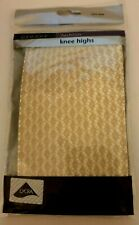 George One Size tan brown Criss Cross Fashion Knee Highs NEW YEARS EVE