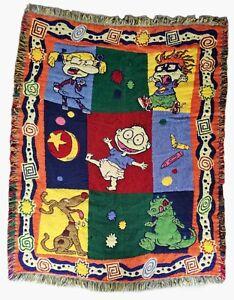 Vintage 90s Nickelodeon Rugrats The Northwest Company Woven Blanket Rug. Cartoon