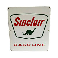 Vintage Sinclair Gasoline Porcelain Metal Sign Advertising Dinosaur N6