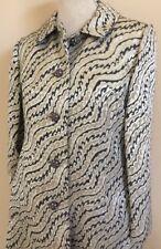 Vtg Estelle Allardale Jacket Beverly Hills Corona Del Mar, CA Gold Gray Ivory
