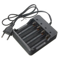 4 Slots Battery Charger for 18650 Rechargeable Li-Ion Battery EU Plug UDC