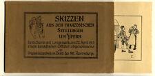 Weltkrieg Westfront Flandern Ypern Skizzenbuch Kunst Grafik Buch Beutestück 1915