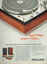 A- Publicité Advertising 1967 La Chaine Hi-Fi Stereo Philips