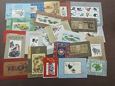 CHINA -  PRISTINE COLLECTION OF 24 x MINI SHEETS - 1980s/1990s - FINE MNH