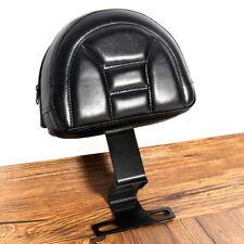 Black Plug-In Driver Backrest With Pocket For Harley 1993-2006 Heritage Softail