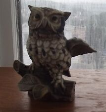 Home Interiors Homco Woodland Owl On Branch #1114