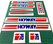 Skyway Bmx Stickers Set - Replacement Frame & Forks Retro Decals