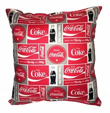 Coca-Cola Pillow HANDMADE Coke Soda Thirst Quenching Coca Cola Drink Classic Red