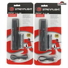 (2) Streamlight Rechargeable ProTac 2L-X 500 Lumen Flashlight Light Black ~ New