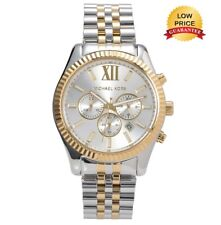 BRAND NEW MICHAEL KORS LEXINGTON CHRONOGRAPH MENS MK8344 SILVER DIAL WATCH