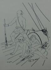 Foujita: Les Pirates - Lithography Original Black And White Signed #1928