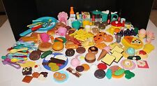 Huge 240 Piece Pretend Play Fake Food Dishes Lot Preschool Daycare Plastic Toys