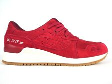 Asics Tiger Gel Lyte III H8B4L 2626 Burgundy Lace Up Casual Leather Trainers
