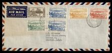 DR WHO 1958 NEW HEBRIDES VILA AIRMAIL TO USA  f33817