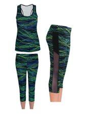 Abbigliamento sportivo da donna blu yoghi senza maniche