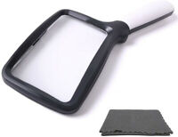 Hand Held Reading 3X Magnifying Glass with 5 LED Light Folding Large Magnifier