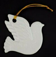 Vintage Porcelain White Dove Bird Christmas Tree Ornament Midwest Japan