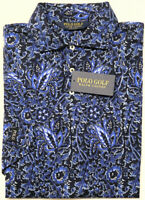 NWT $89 Polo Golf Ralph Lauren Navy Blue Floral Short Sleeve Shirt Mens Cotton
