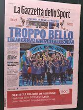 GAZZETTA DELLO SPORT 12/07/2021 ITALIA CAMPIONE D'EUROPA EURO 2020 ITALY WINNER