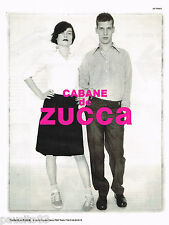 PUBLICITE ADVERTISING 065  1997  CABANE DE ZUCCA   mode pret à porter