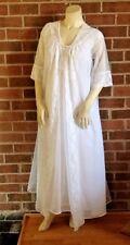 Vintage SHADOWLINE Double Chiffon Bridal Peignoir Set Lingerie Nightgown Robe M