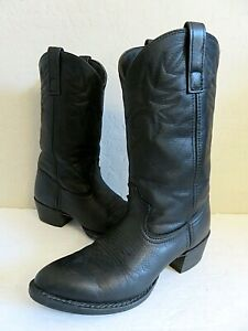 Dingo Black Leather Cowboy Western Boots Womens 10B