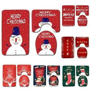 Santa Claus Toilet Cover Bathroom Set Christmas Decoration For 2021 Home Decor✅✅
