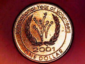 2001 Australia. $1. International Year Volunteers. EF QEII(obv) Volunteer symbol