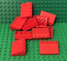 LEGO X10 New Red 3x4 Slope 25° (33) Rooftop Parts #3297