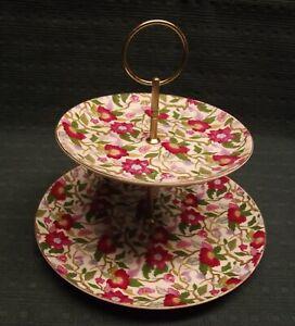 Etagere Porzellan mit sehr schönem Blumen Dekor