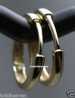 11mm Small Solid 14K Yellow Gold Huggies Hoop Earrings 1.04g Unisex