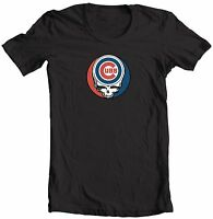 CHICAGO CUBS STEAL YOUR FACE GRATEFUL DEAD JERRY GARCIA MLB  T-SHIRT