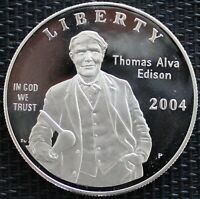 USA ONE DOLLAR THOMAS ALVA EDISON 2004 ARGENT