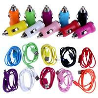 Bullet Car Charger+Micro USB cable for Samsung Galaxy S4 i9500 S3 i747 #K