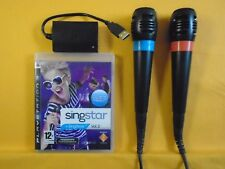ps3 SINGSTAR VOL 2 + 2 Wired Singstar Mics Microphones PAL REGION FREE
