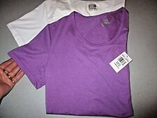 2 New WEATHERPROOF 32 DEGREE COOL Purple White Short Sleeve Stretch Tees/Size M