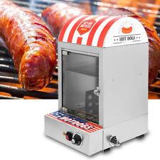 Commercial Display Electric Hot Dog Steamer Machine & Bun Warmer 30-110℃ 110V