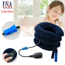 Inflatable Cervical Neck Back Traction Neck Head Stretcher Pain Relief Home Care