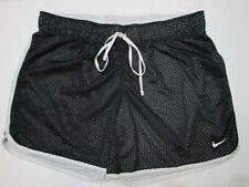 "Nike Dri-Fit Women's Running Shorts Size M Black ""Just Do It"" Waist band"