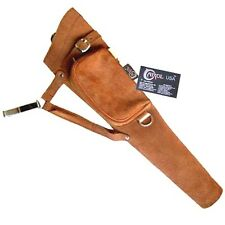 CAROL TRADITIONAL SIDE/HIP/BELT/WAIST SUEDE LEATHER ARROW QUIVER AQ117 (RH)