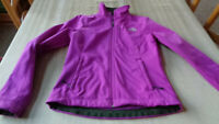 Woman's The North Face -Bionic Soft Shell Jacket Small Purple - CLEAN