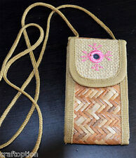 BAMBOO JUTE CELLPHONE CARRY POUCH/PURSE FROM INDIA!!