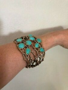 Barse Turquoise & Brass Cuff DS35