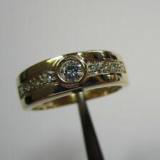 Aparter Ring aus 585 Gelbgold mit neun Brillanten - 72-2064/13