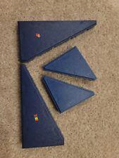 4 Vintage Fisher Price Construx Dark Blue traingle Panel