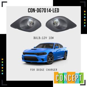 For 2015-2019 Dodge Charger SRT LED Fog Lights Lamps with Bezels & Assembly Set
