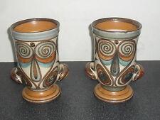 Old Pair Langley Pottery Vases Soraya Glyn Colledge.