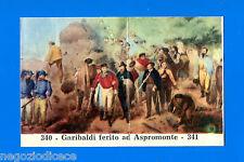 CENTENARIO UNITA D'ITALIA - Figurina-Sticker n. 340-341 - GARIBALDI FERITO -Rec