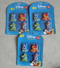 Lot of 3 New Packs of Walt Disney Character Erasers 4 in Each