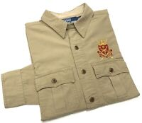 Polo Ralph Lauren Men's Classic Fit Military Inspired Shirt In Classic Khaki